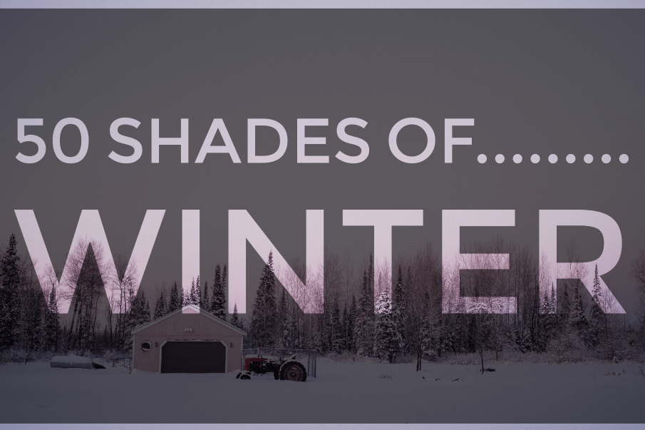 50 Shades of….Winter : A color explosion